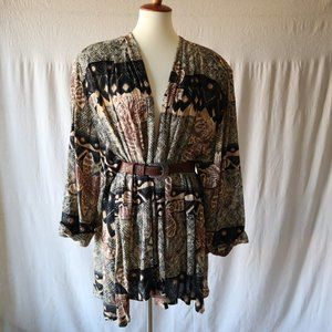 Vintage Earthy Abstract Print Jacket